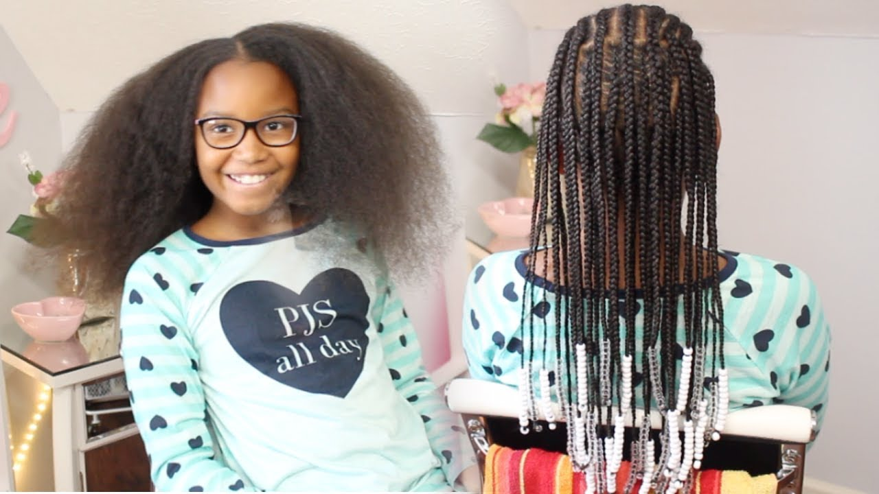 Braids Beads Braided Hairstyle Kids Natural Hair Youtube