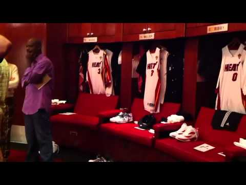 MIAMI HEAT LOCKER ROOM TOUR GAME 6 NBA FINALS 2011