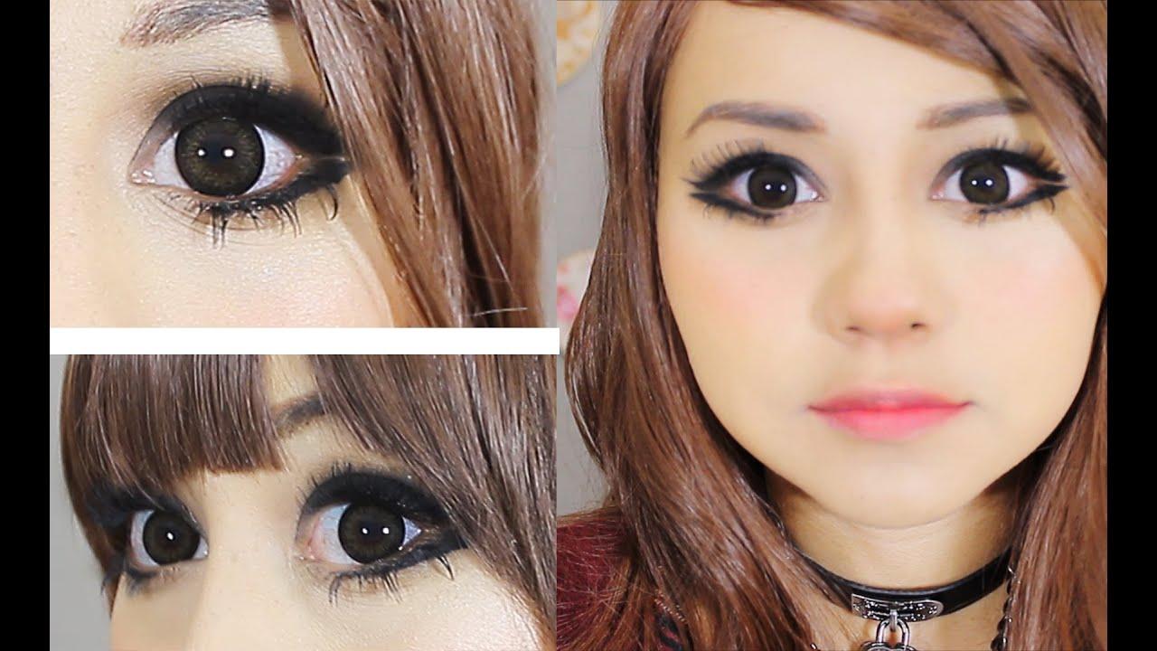maquillaje ojitos grandes y rasgados con mucha pestaña ♥ miku , YouTube