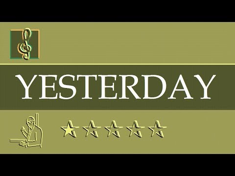 Piano - Yesterday - The Beatles (Sheet music)