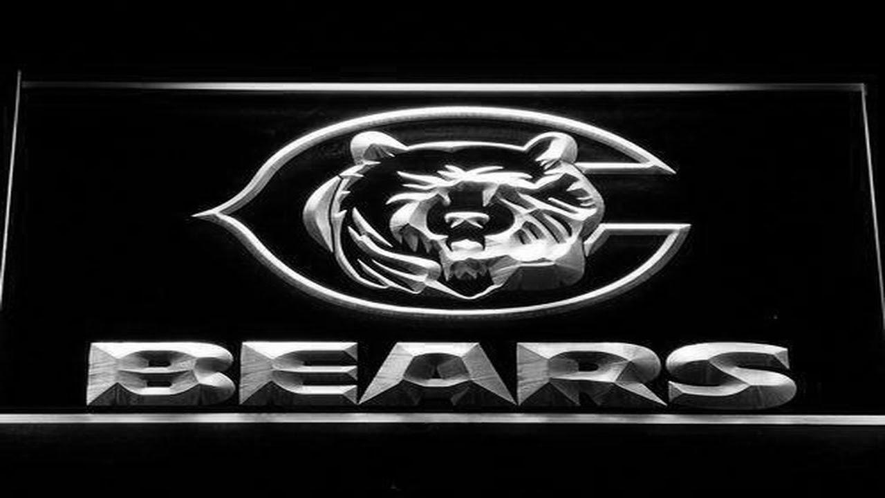 Chicago Bears Bear LED Neon Sign - YouTube