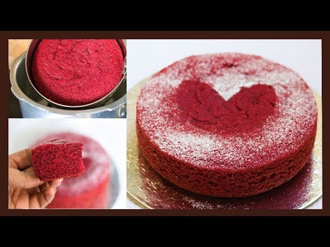 Eggless Red Velvet Cake Recipe | Whole Wheat Cake Without Oven | Super Moist and Soft Velvet Cake