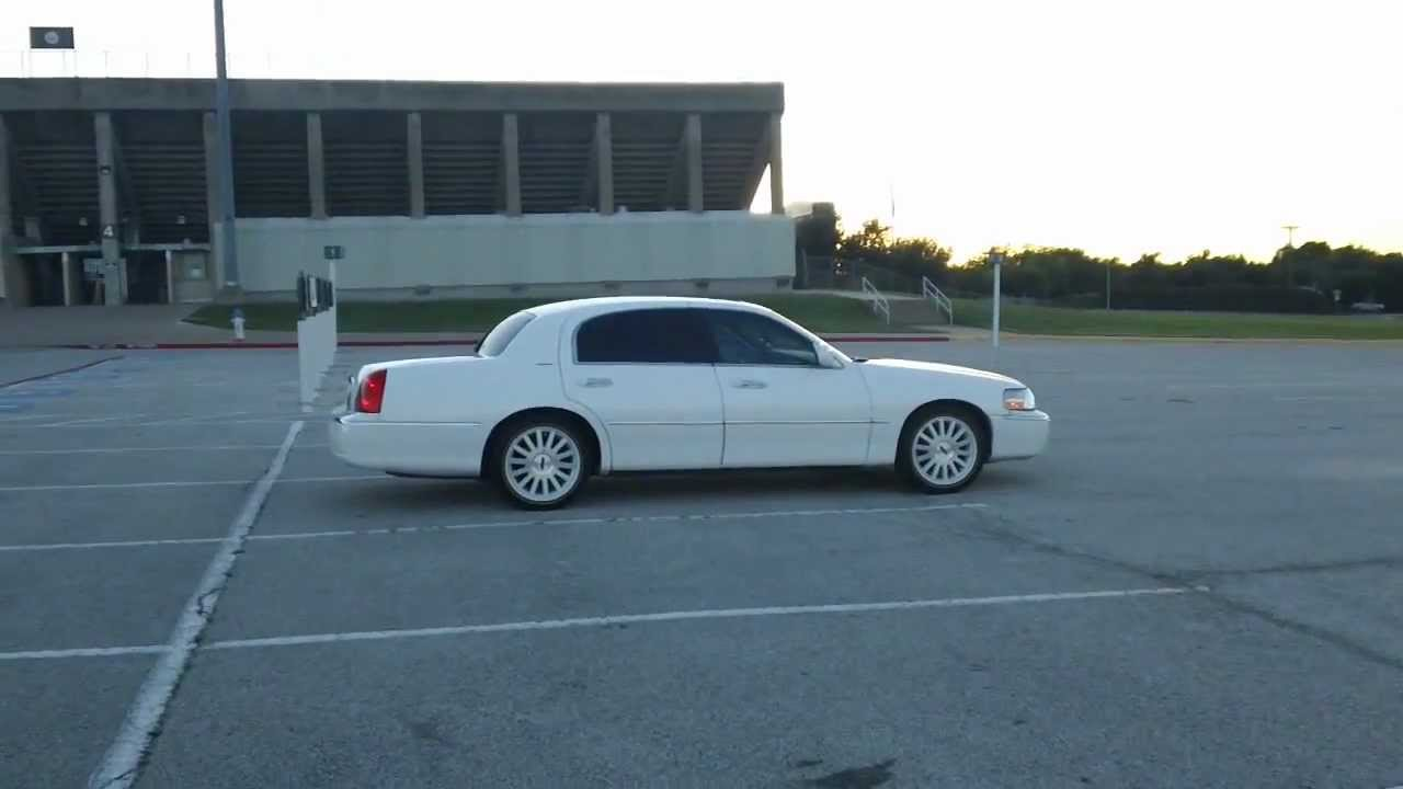 Lowrider Rims And Tires >> Town Car With Vogues - YouTube