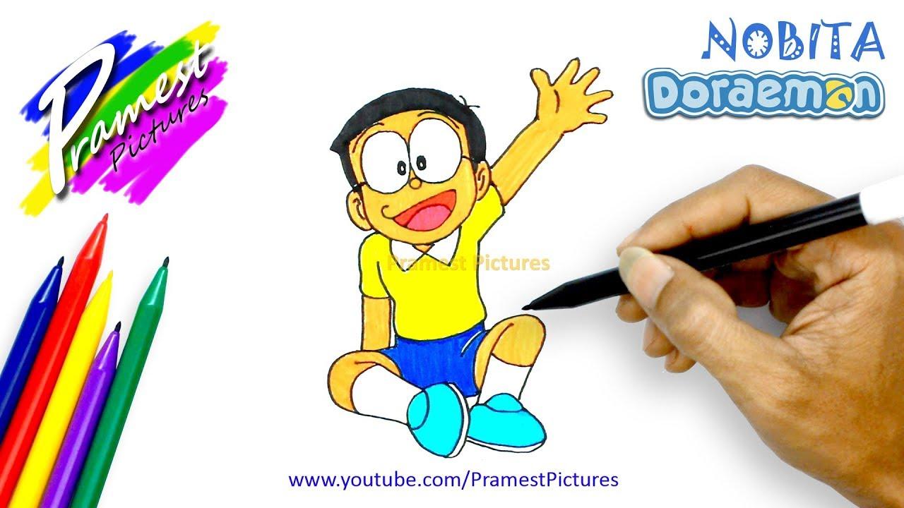 Nobita Cara Menggambar Dan Mewarnai Gambar Kartun Doraemon Untuk