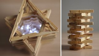 DIY Clothespin Lamp - How to M…