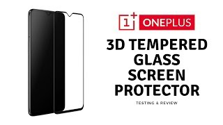 OnePlus 6t Official 3D Tempered Glass Screen Protector Application + Test