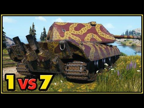 E-100 - 11 Kills - 1 vs 7 - World of Tanks Gameplay