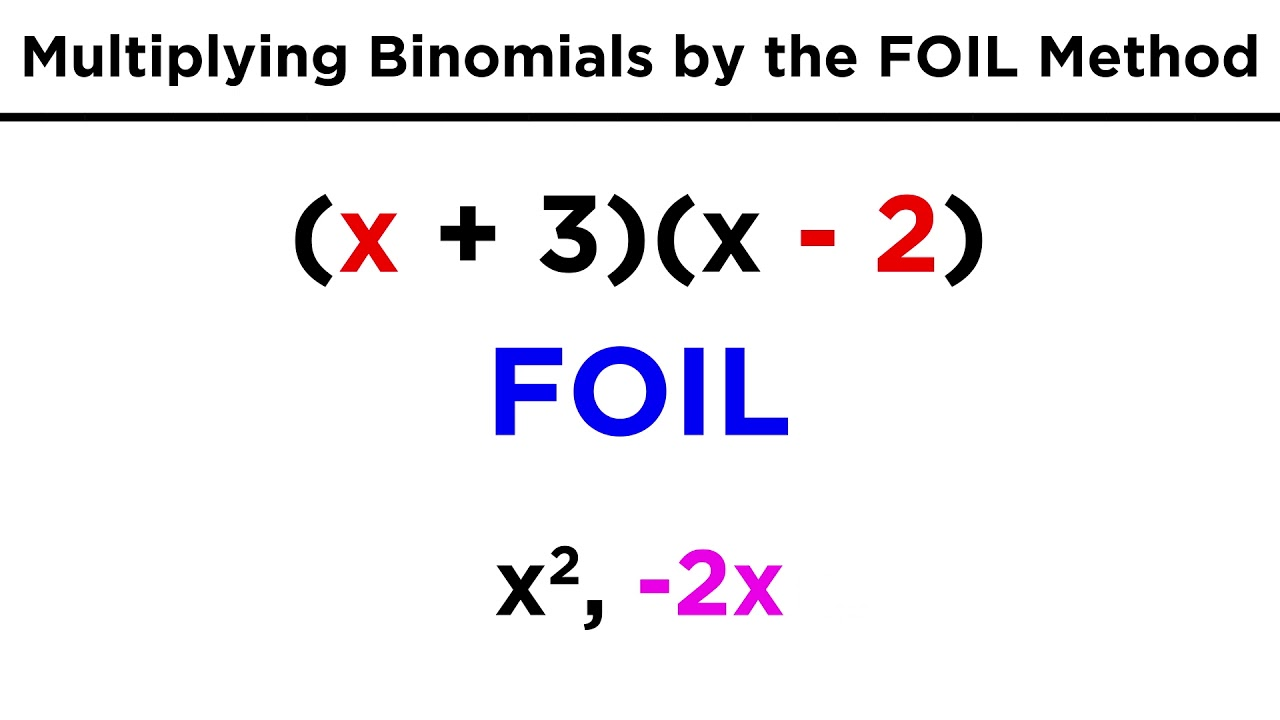 Multiplying Binomials By The Foil Method Youtube