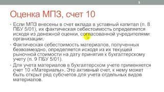 Лекция 21: Учет материалов