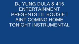 Lil Boosie- I aint coming home tonight instrumental