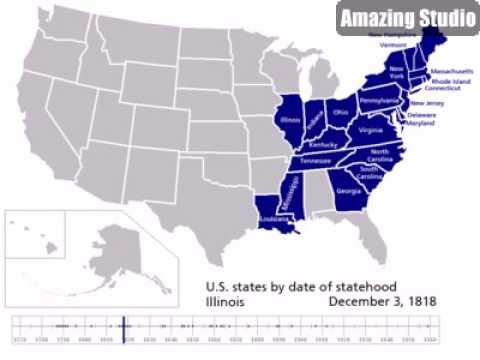 1776 List of U S  states by date of statehood