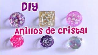 Anillos de cristal DIY Glass rings