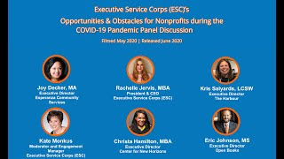 ESC's Opportunities & Obstacles for Nonprofits during the COVID-19 Pandemic Panel Discussion