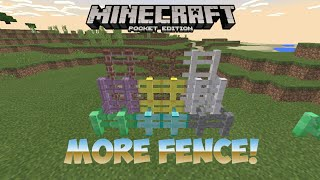 Minecraft Pocket Edition | MORE FENCE! - Add-on Review!