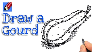How to draw a gourd Real Easy for kids and beginners