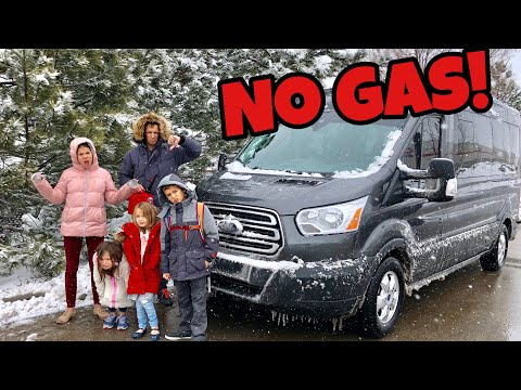 STRANDED IN A SNOWSTORM | ran out of gas