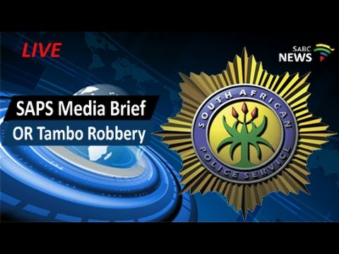 Phahlane briefs media on O.R. Tambo robbery, 09 March 2017