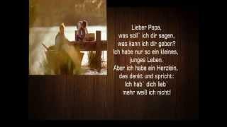 Neu: VATERTAG: Die schönsten Sprüche zum Vatertag 2015 ..ich hab` dich lieb`, mehr weiß ich nicht ..