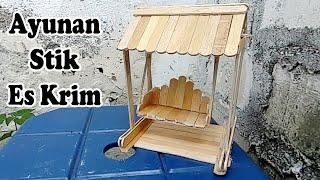 Miniatur Ayunan dari Stik Es Krim Sederhana dan Mudah