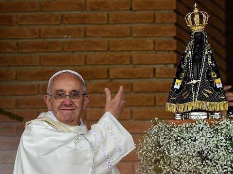 Resultado de imagem para papa francisco e maria