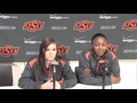 Basketball Media Day  Lakyn Garrison and Carolyn BlairMobley