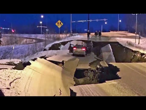Powerful Earthquake and Aftershocks Rock Alaska