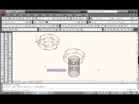 how to make a nut in autocad