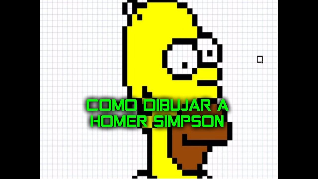Como Dibujar A Homero Para Minecraft Pixel Art Ho