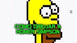 Como dibujar a Homero | Para Minecraft | Pixel Art | How to draw Homer