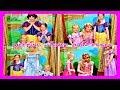 LITTLE GIRLS MEETING DISNEY PRINCESSES   Belle   Cinderella   Rapunzel   Snow White   Aurora