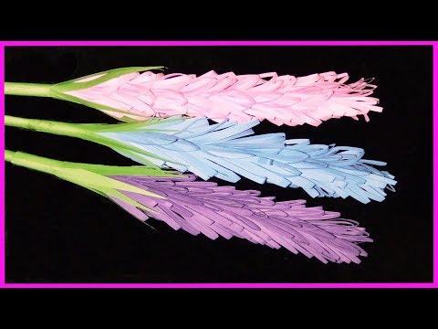 How To Make Lavender Paper Stick Flower | DIY Paper Crafts | Zinat Crafts