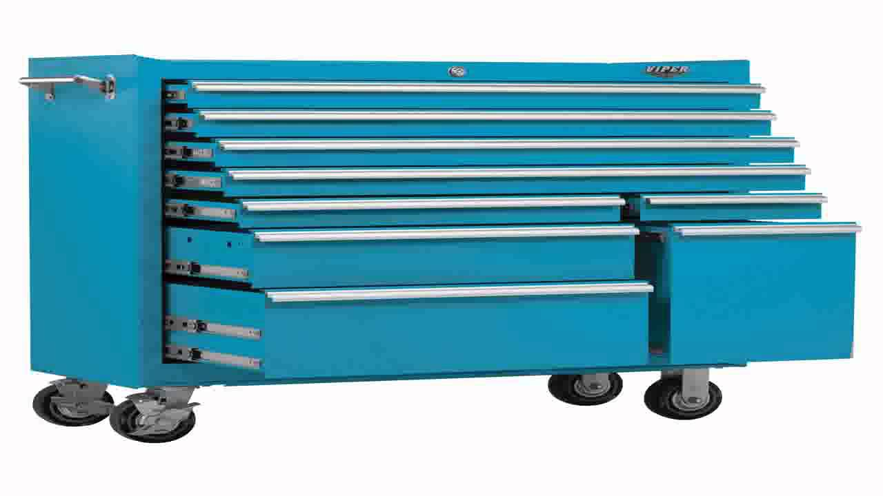 Viper Tool Storage Lb4109r 41 Inch 9 Drawer 18g Steel Rolling Cabinet You