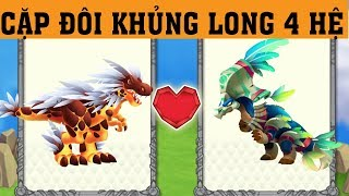 ✔️KHỦNG LONG ĐEO MẶT NẠ 4 HỆ MỚI !! - Dragon City Game Mobile Android, Ios #383