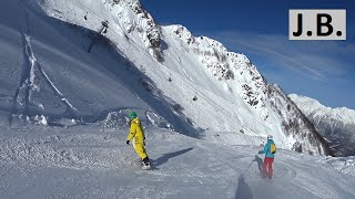 Descent on Triton slope, Rosa Khutor, SOCHI Jan2016