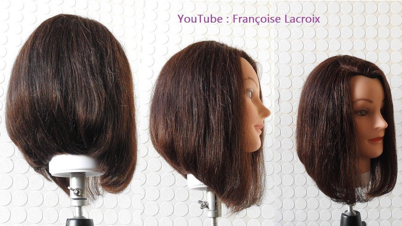 Coupe de cheveux carré plongeant dégradé | A-Line Bob haircut tutorial | Corte de pelo Bob en ...