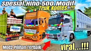 Download lagu Spesial 3 Mod hino 500 Full modifikasi || Mod truk kontes terbaru