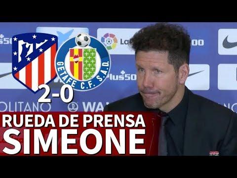 Atlético 2-0 Getafe | Rueda de prensa del Cholo Simeone | Diario AS