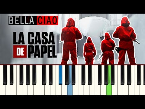 💎💎💎La Casa de Papel - Bella Ciao (Piano tutorial)💎💎💎