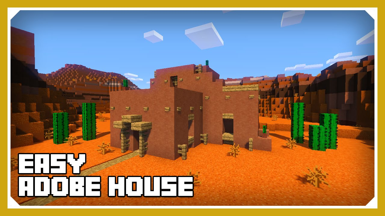 Minecraft how to build an adobe house tutorial easy for How to build my house