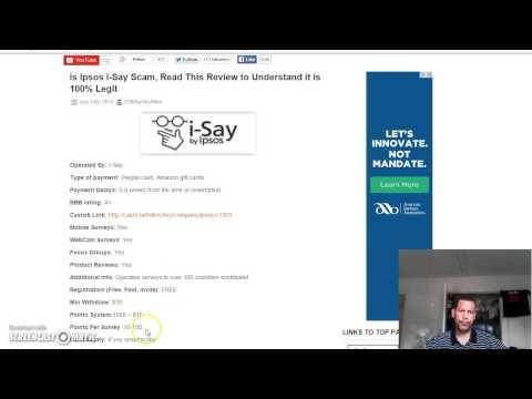 Ipsos-Legitimate Paid Survey Site-Paid to take Surveys
