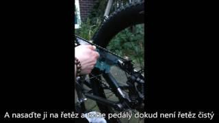 Čištění řetězu na kole