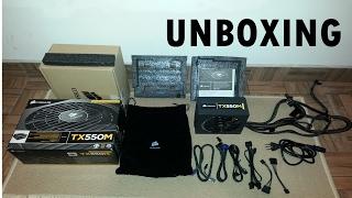 unboxing fonte corsair tx550m e gtx 660 evga