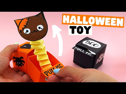 Origami Halloween POP OUT BOX | Halloween surprise box