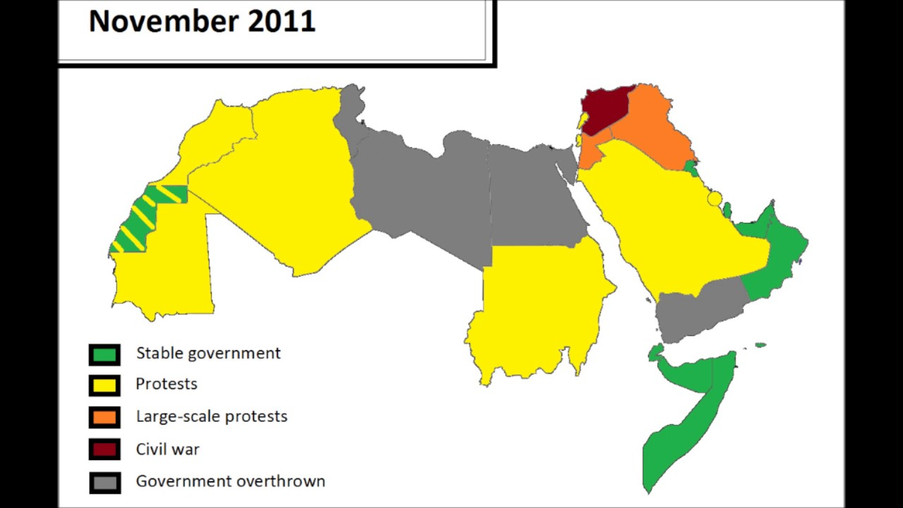 the arab spring every month lyria mapping