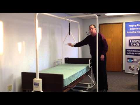 Friendly Beds- Trapeze, Rails, Balance Pole System For Hospital & Twin Beds