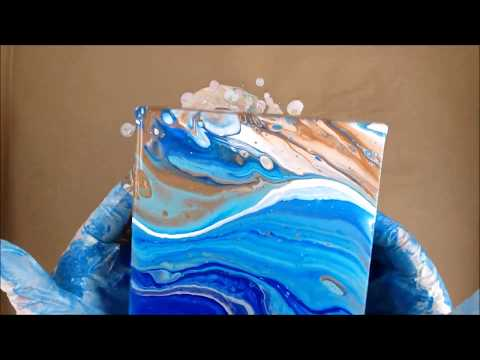 Acrylic Pour: Jan's Ocean Wave Technique- 2 Dirty Flip Cups & 1 Dirty Pour!