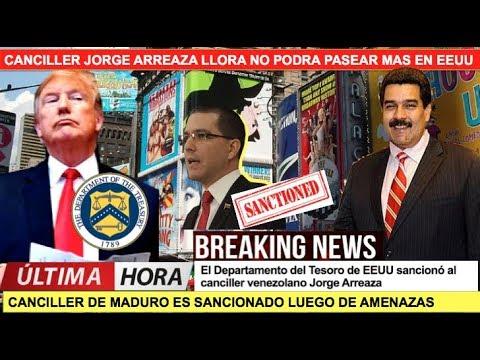 Canciller de Maduro llora no puede viajar mas a EEUU