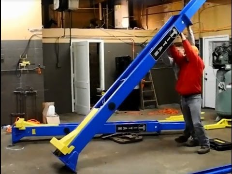 How to Install a 9000 LB 2 Post Lift - YouTube
