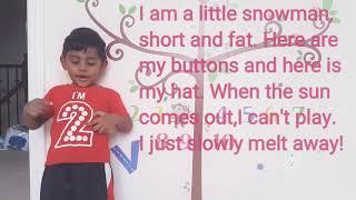 I am a little snowman! Songs for kids | Nursery rhyme preschool