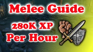 AFK Melee Combat Guide - Runescape 2015 - Hellhounds - 280k XP Per Hour - Fast + Easy